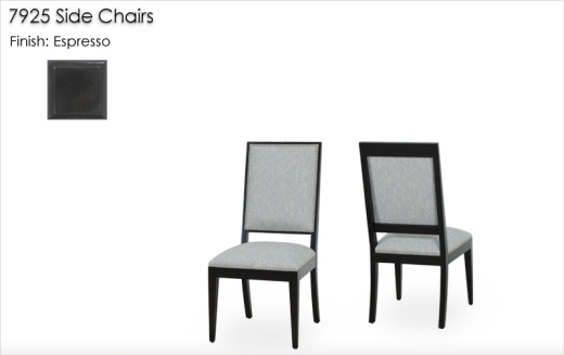 Lorts 7925 Side Chairs finished in Espresso