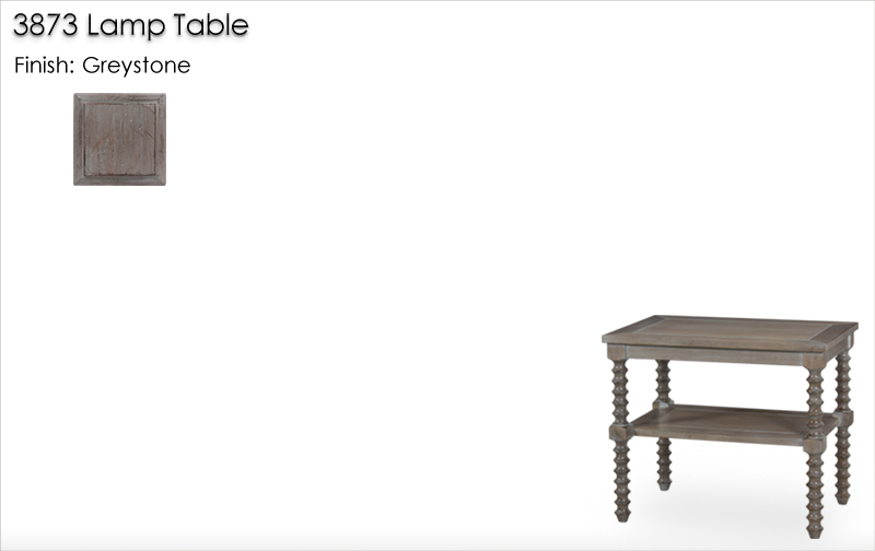 Lorts 3873 Lamp Table finished in Greystone