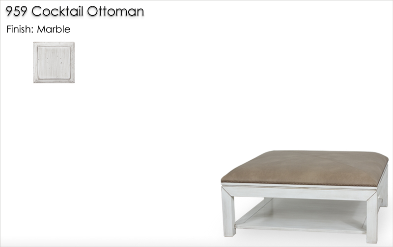 Lorts 959 Cocktail Ottoman finished in Marble