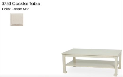 Lorts 3753 Cocktail Table finished in Cream Mist