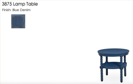 Lorts 3875 Lamp Table finished in Blue Denim