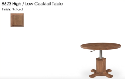 Lorts 8623 High / Low Cocktail Table