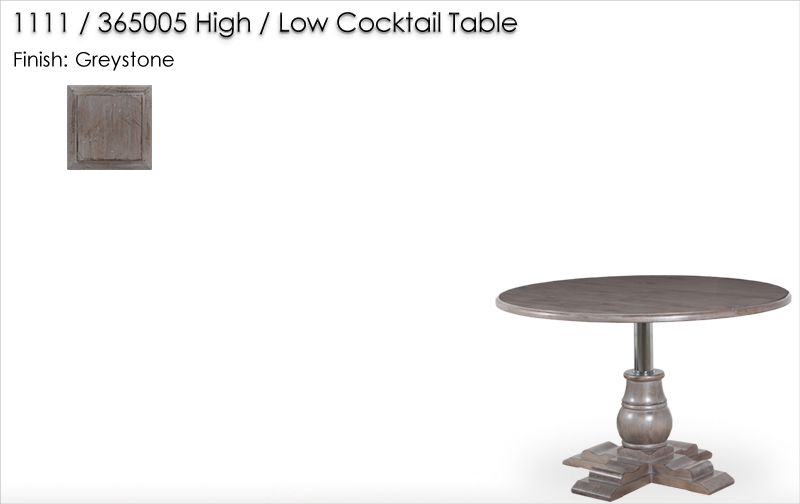 Lorts 1111 / 365005 High / Low Cocktail Table finished in Greystone