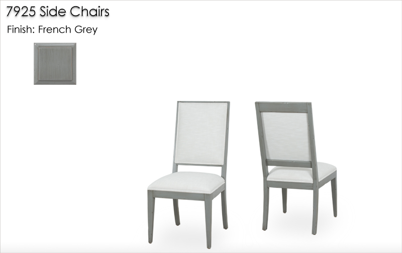 Lorts 7925 Side Chairs finished in French Grey