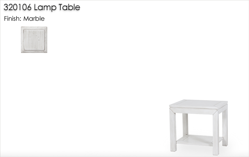 Lorts 320106 Lamp Table finished in Marble