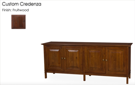 Lorts Custom Credenza finished in Fruitwood