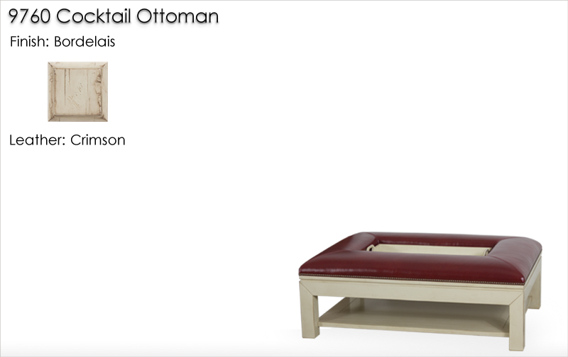 Lorts 9760 Cocktail Ottoman finished in Bordelais