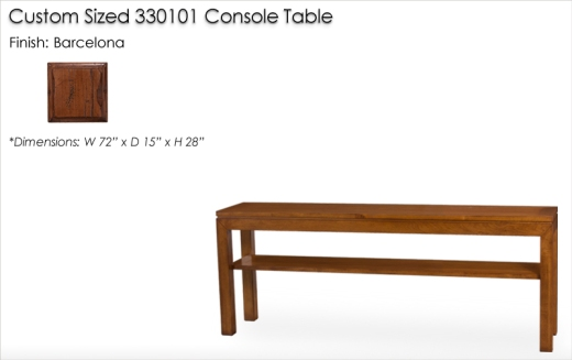 Lorts Custom Sized 330101 Parson Console Table finished in Barcelona