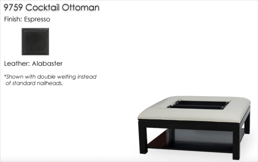 Lorts 9759 Cocktail Ottoman finished in Espresso