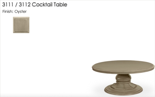 Lorts 3111 / 3112 Cocktail Table finished in Oyster