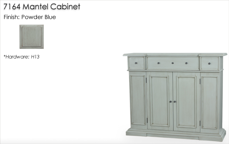 Lorts 7164 Mantel Cabinet finished in Powder Blue