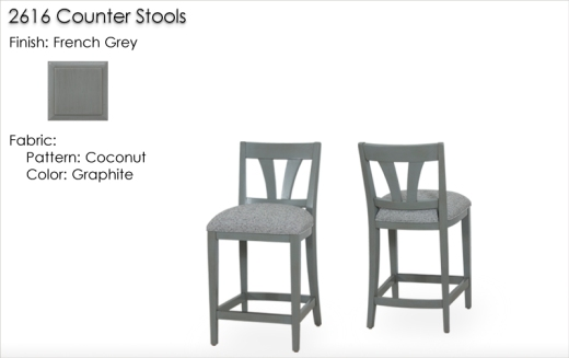 Lorts 2616 Counter Stools finished in French Grey