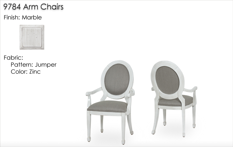 Lorts 9784 Dining Chairs finished in Marble