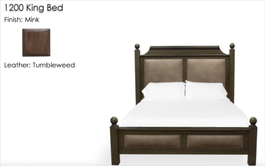Lorts 1200 King Bed finished in Mink