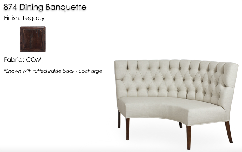 Lorts 874 Banquette finished in Legacy