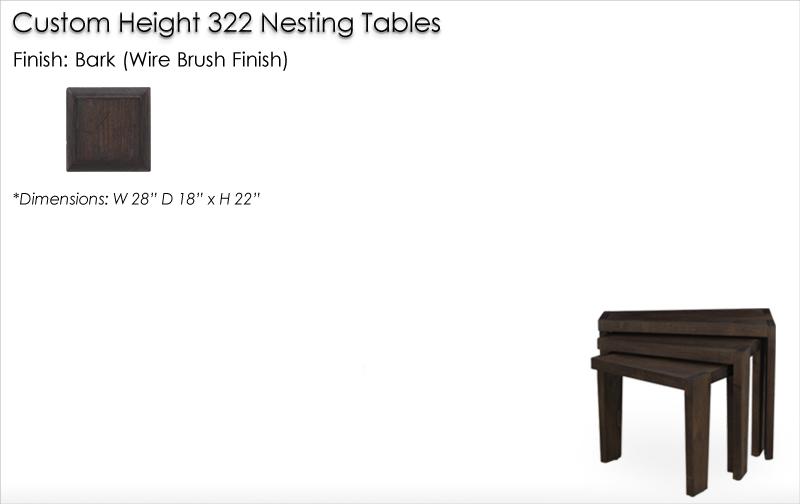 Lorts Custom Height 322 Nesting Tables