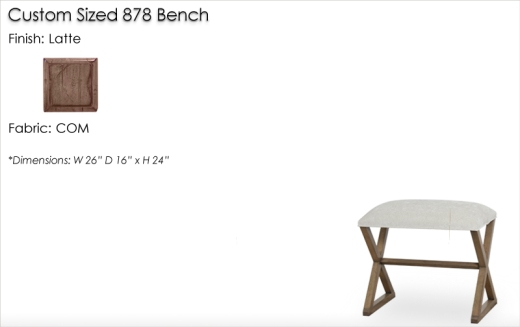 Lorts Custom Sized 878 Bench finished in Latte