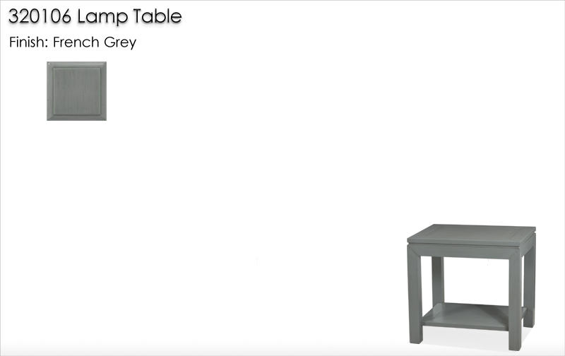 Lorts 320106 Lamp Table finished in French Grey