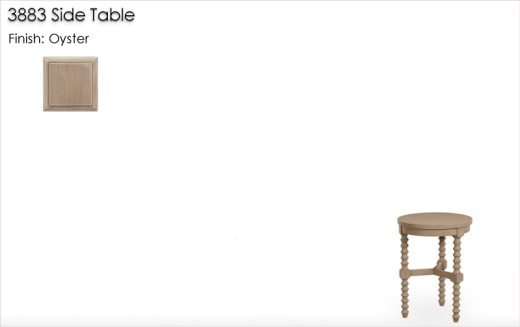 Lorts 3883 Side Table finished in Oyster