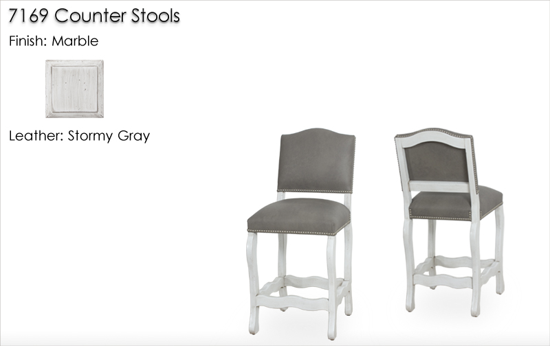 Lorts 7169 Counter Stools finished in Marble