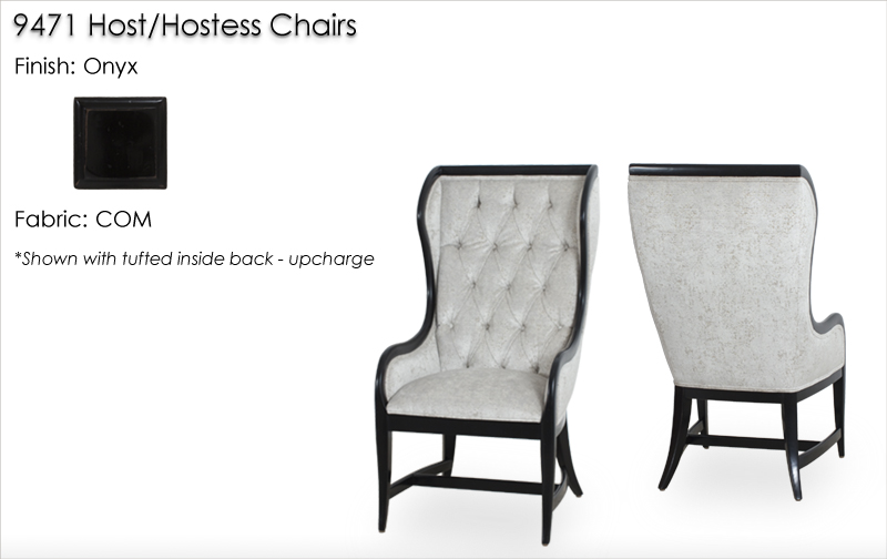 Lorts 9471 Hostess Chairs finished in Onyx
