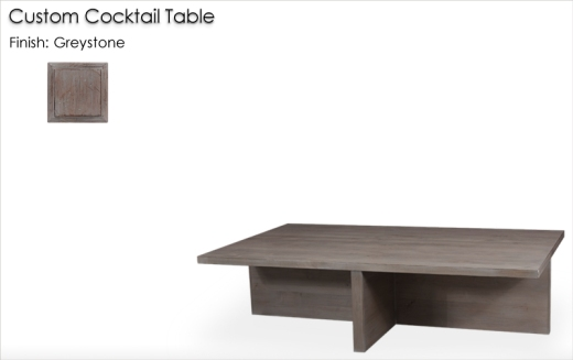 Lorts Custom Cocktail Table finished in Greystone