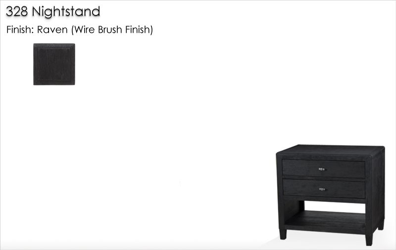 Lorts 328 Nightstand finished in Raven (Wire Brush Finish)