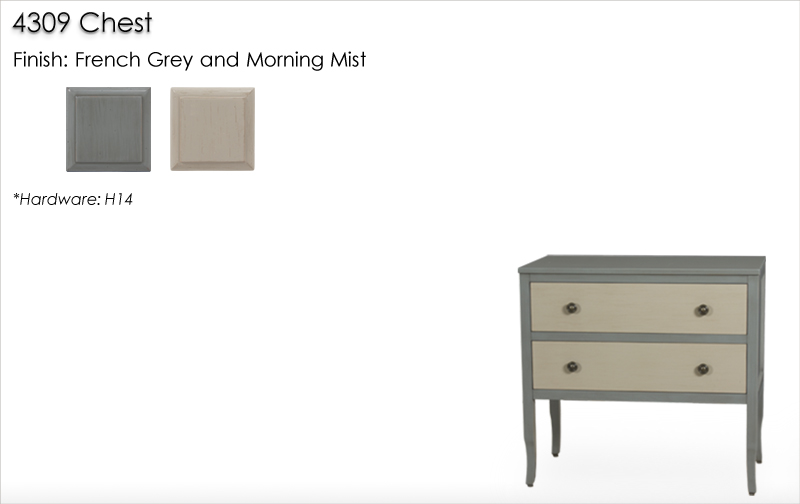 Lorts 4309 Chest finished in French Grey and Morning Mist