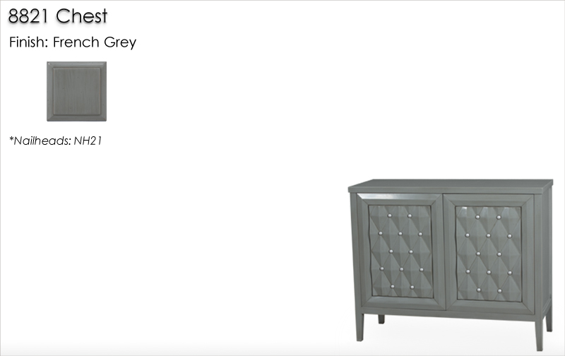 Lorts 8821 Chest finished in French Grey