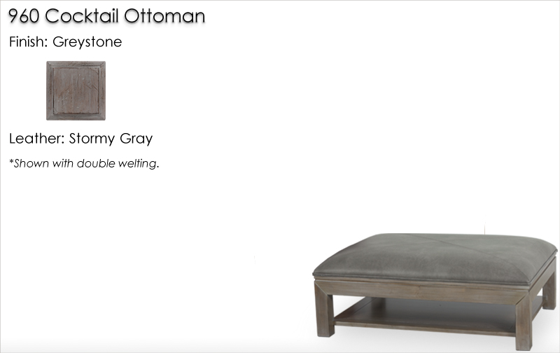 Lorts 960 Cocktail Ottoman finished in Greystone