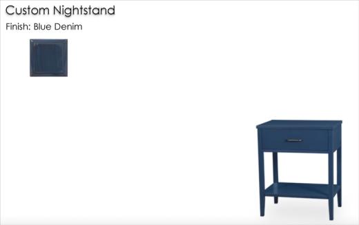 Lorts Custom Nighstand finished in Blue Denim
