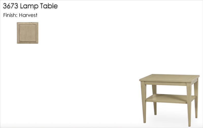 Lorts 3673 Tapered Leg Lamp Table finished in Harvest
