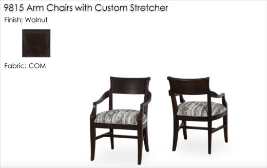 Lorts Custom 9815 Arm Chairs finished in Walnut