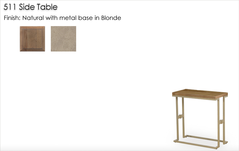 Lorts 511 Side Table finished Natural and Blonde