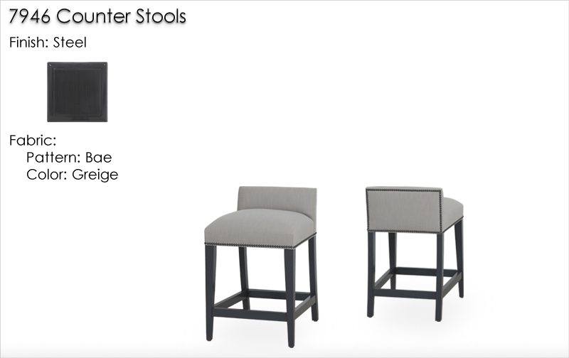 Lorts 7946 Counter Stools finished in Steel