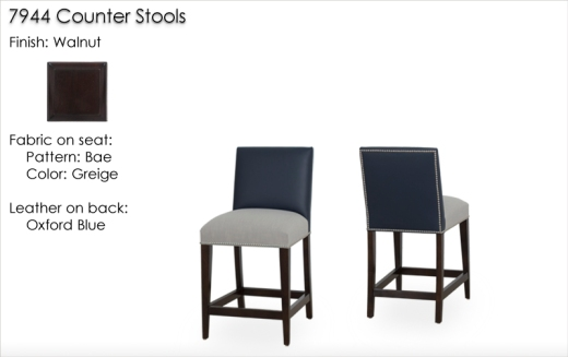 Lorts 7944 Counter Stools finished in Walnut