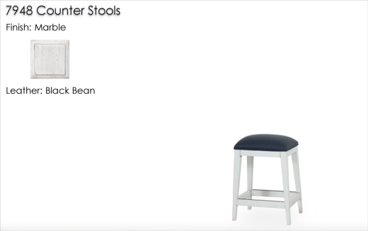 Lorts 7948 Counter Stools finished in Marble
