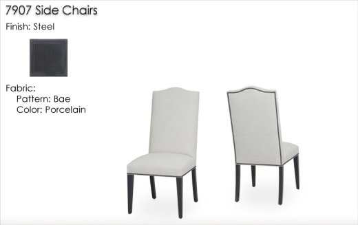 Lorts 7907 Side Chairs finished in Steel