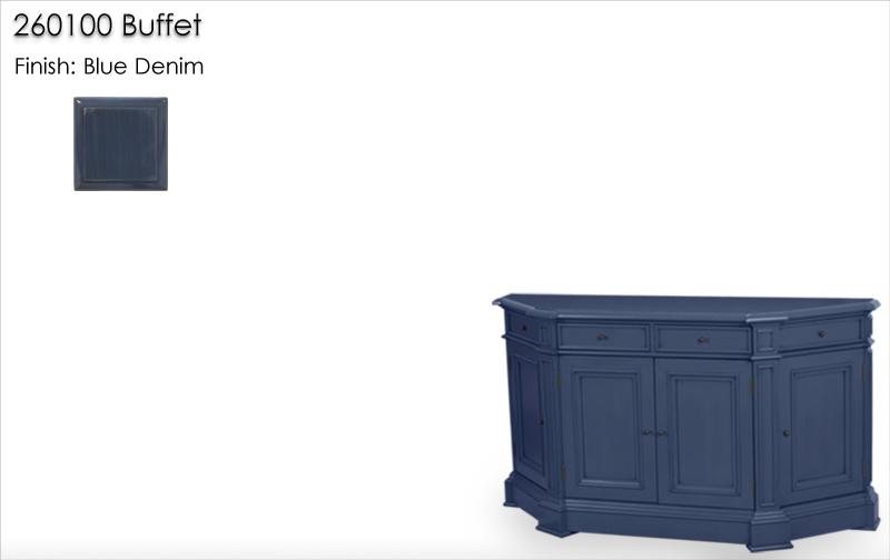 Lorts 260100 Buffet finished in Blue Denim