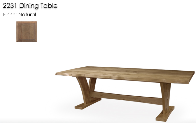 Lorts 2231 Dining Table finished in Natural