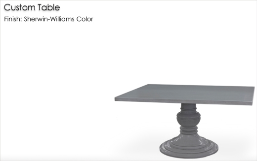 Lorts Custom Table finished in a Sherwin-Williams Color
