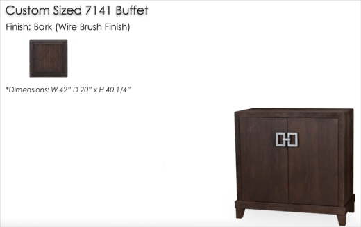 Lorts Custom Sized 7141 Buffet finished in Bark