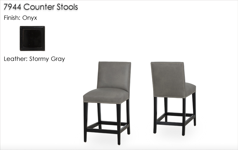 Lorts 7944 Counter Stools finished in Onyx
