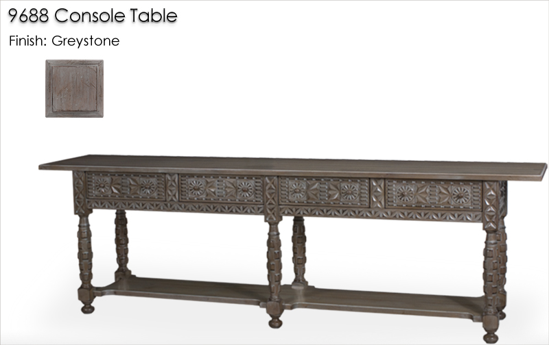 Lorts 9688 Console Table finished in Greystone