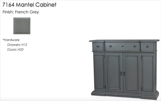 Lorts 7164 Mantel Chest finished in French Grey
