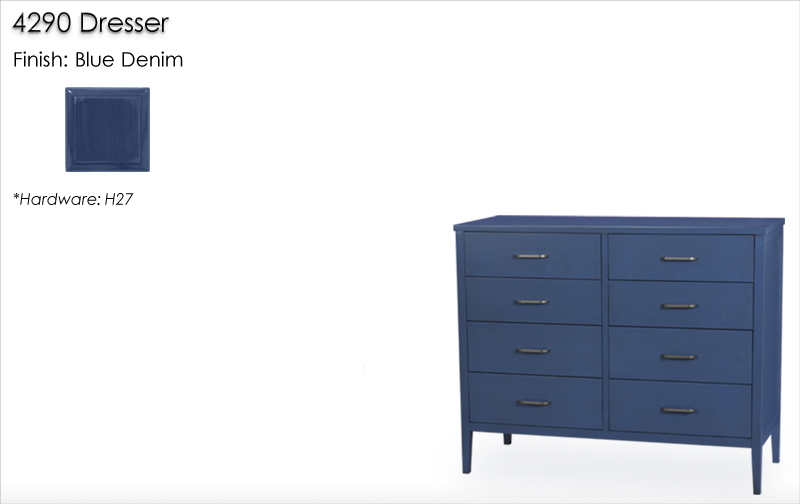 Lorts 4290 Dresser finished in Blue Denim