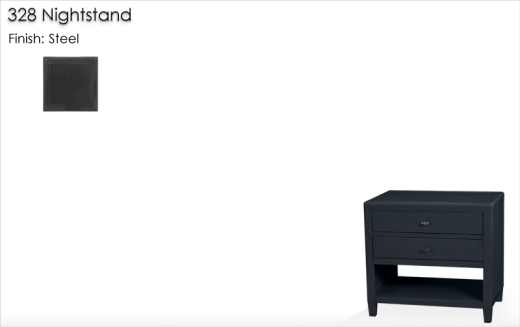 Lorts 328 Nightstand finished in Steel