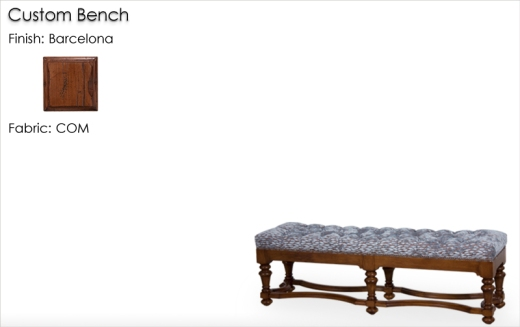 Lorts Custom Sized Bench finished in Barcelona