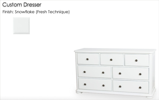Lorts Custom Dresser finished in Snowflake, Fresh Technique