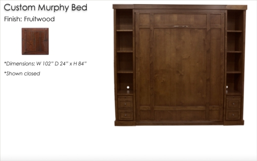 Lorts Custom Murphy Bed finished in Fruitwood
